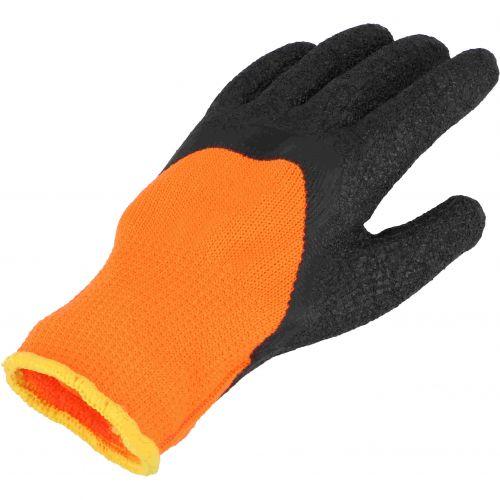 Rękawice robocze bawełniane powlekane lateksem pomarańczowe  rozm.11 PROTECT2U 8286