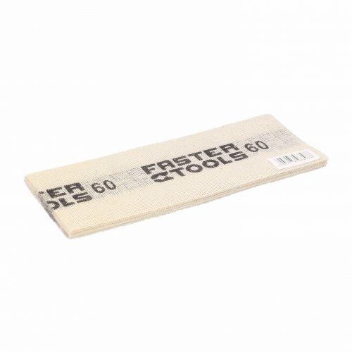 Siatka ścierna do gładzi, biała 110 x 275 mm, gr. 60 Faster Tools 8807