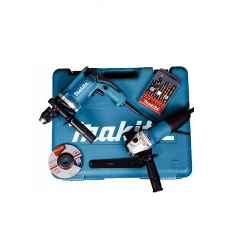 Zestaw Combo szlifierka 125 mm GA5030R + Wiertarka udarowa HP1631 - MAKITA DK0050-2