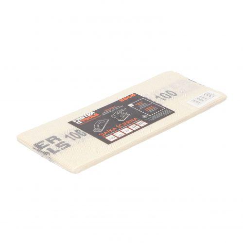 Siatka ścierna do gładzi, biała 110 x 275 mm, gr. 100 Faster Tools 8809-2