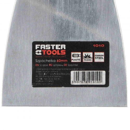 Szpachelka do szpachlowania nierdzewna 60 x 215 mm Faster Tools 1010-6