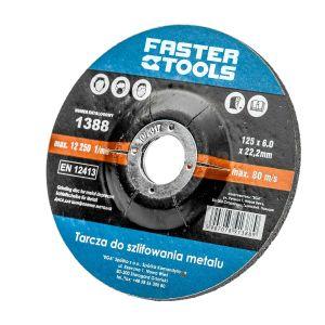Tarcza do szlifowania metalu 125 mm x 6 mm FASTERTOOLS 1388 1388