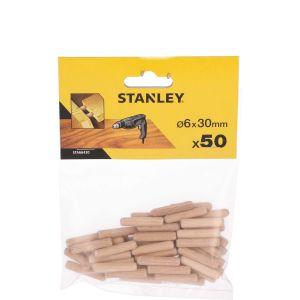 Kołki ustalające drewniane 6x30mm (50szt.) - STANLEY FATMAX STA66430-QZ STA66430-QZ