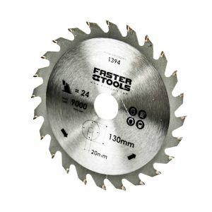 Tarcza widiowa do cięcia drewna 130 x 20 mm / 24 zęby FASTERTOOLS 1394 1406
