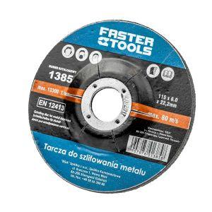 Tarcza do szlifowania metalu 115 mm x 6 mm FASTERTOOLS 1385 1385