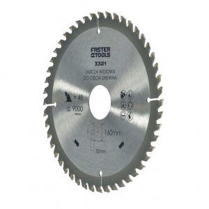 Tarcza widiowa do drewna 160 x 30 mm 48 zębów Faster Tools 3321