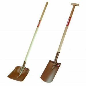 Zestaw łopata drewno + szpadel prosty drewno - FORESTER PL8596