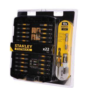 Tuleja magnetyczna 50 mm + 21 końcówek wkrętarskich - STANLEY STA88040-XJ