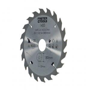 Tarcza widiowa do drewna 180 x 30 mm 20 zębów Faster Tools 1400