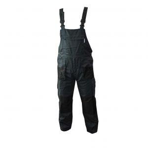 Spodnie ogrodniczki popielato-czarne - PROTECT2U 5136