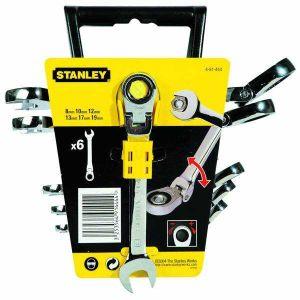 Zestaw kluczy płasko - oczkowych łamanych z grzechotką 6 szt. - STANLEY 91-444-4