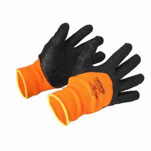 Rękawice robocze bawełniane powlekane lateksem pomarańczowe  rozm.11 PROTECT2U 8286-3