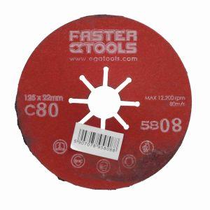 Dysk szlifierski 125 mm gr. 80 Faster Tools 5808
