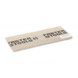 Siatka ścierna do gładzi, biała 110 x 275 mm, gr. 40 Faster Tools 8806