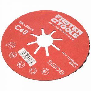 Dysk szlifierski 125 mm gr. 40 Faster Tools 5806