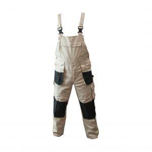 Spodnie ogrodniczki beżowo-czarne - PROTECT2U 5140
