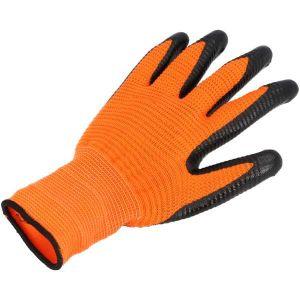 Rękawice karbowane ORANGE rozm. 10 - PROTECT2U 8276