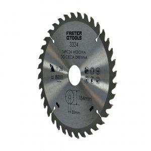 Tarcza widiowa do drewna 184 x 30 mm 36 zębów Faster Tools 3324