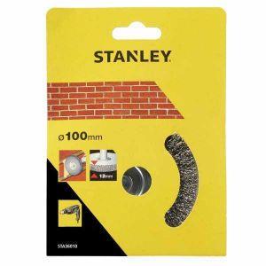 Szczotka druciana tarczowa 6mm 100x12mm - STANLEY STA36012 STA36012