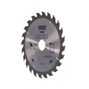 Tarcza widiowa do drewna 184 x 30 mm 24 zęby Faster Tools 3323