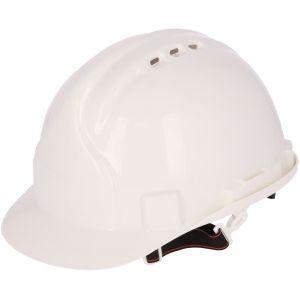 Kask budowlany ochronny, biały ABS PROTECT2U 6769