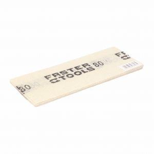 Siatka ścierna do gładzi, biała 110 x 275 mm, gr. 80 Faster Tools 8808