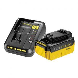Zestaw ładowarka + akumulator 4,0 Ah -  STANLEY FATMAX FMC694M1-QW FMC694M1-QW