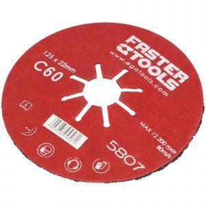 Dysk szlifierski 125 mm gr. 60 Faster Tools 5807