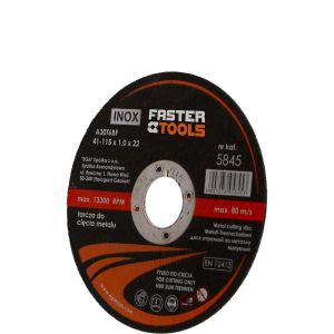 Tarcza do cięcia metalu 230mm INOX - FASTER TOOLS 5847