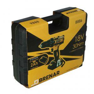 Wiertarko-wkrętarka akumulatorowa 18 V, 2 x 2 Ah Brenar 8886-7