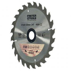 Tarcza widiowa do drewna 160 x 20 mm 24 zęby Faster Tools 1398