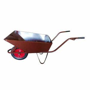 Taczka ogrodowa 85L na kole łożyskowanym z osłoną koła ocynk - FASTER TOOLS 8971