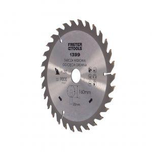 Tarcza widiowa do drewna 160 x 20 mm 30 zębów Faster Tools 1399